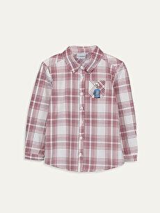 Kız Çocuk Pamuklu Ekose Gömlek
