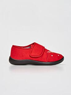 Erkek Çocuk Cırt Cırtlı Ev Ayakkabısı