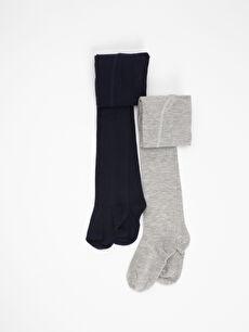 Erkek Bebek 2'li Külotlu Çorap