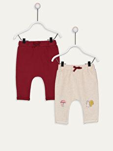 Kız Bebek Pamuklu Pantolon 2'li