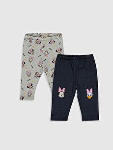 Kız Bebek Disney Baskılı Pantolon 2'li
