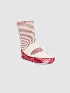 Kız Bebek Desenli Ev Çorabı