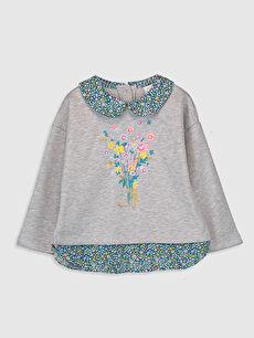Kız Bebek Desenli Sweatshirt