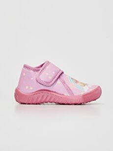 Kız Bebek Cırt Cırtlı Ev Ayakkabısı