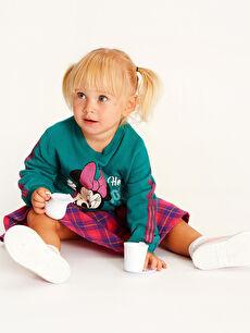 Kız Bebek Minnie Mouse Baskılı Sweatshirt