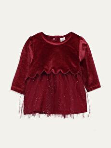 Kız Bebek Kadife Elbise
