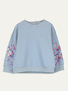 Kız Bebek Nakışlı Sweatshirt