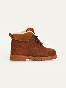 Baby Boy Lace-Up Fur Lined Boot