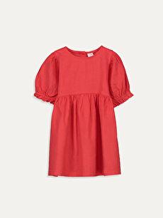 Kız Bebek Poplin Elbise