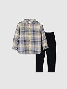 Erkek Bebek Gömlek ve Pantolon 2'li