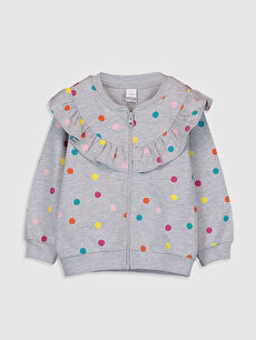Kız Bebek Puantiyeli Sweatshirt