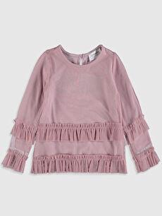 Kız Bebek Fırfırlı Tişört