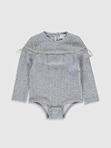 Kız Bebek Çizgili Çıtçıtlı Body
