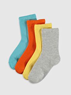 Erkek Bebek Soket Çorap 4'lü