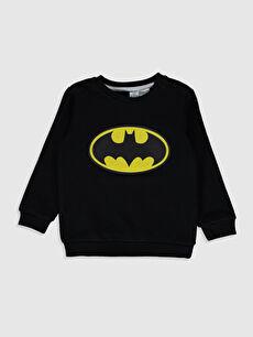 Erkek Bebek Batman Desenli Sweatshirt