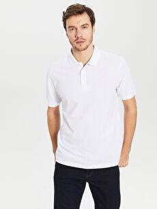 Polo Yaka Puantiyeli Tişört