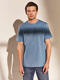 Базовая футболка из чесаного хлопка с круглым вырезом