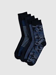 Desenli Soket Çorap 5'li