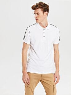 Polo Yaka Şeritli Tişört