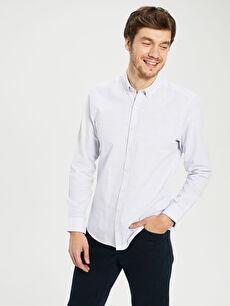 Slim Fit Basic Uzun Kollu Gömlek