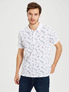 Polo Yaka Desenli Tişört