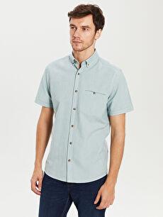 Regular Fit Short Sleeve Basic Poplin Shirt