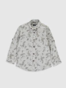 Aile Koleksiyonu Erkek Çocuk Desenli Pamuklu Gömlek
