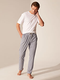 %49 Pamuk %51 Polyester Standart Pijamalar Standart Kalıp Penye Pijama Altı