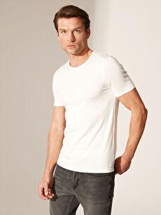 Slim Fit Bisiklet Yaka Basic Tişört