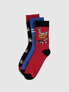 Looney Tunes Baskılı Soket Çorap 3'lü