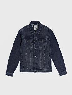 Standart Kalıp Jean Ceket