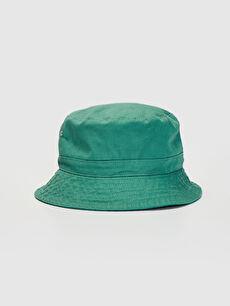 Yeşil Gabardin Bucket Şapka