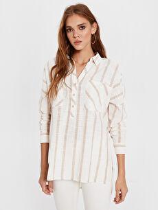 Çizgili Pamuklu Gömlek
