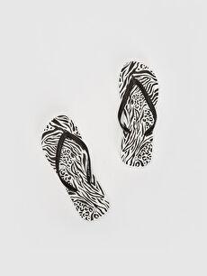 Kadın Zebra Desenli Parmak Arası Terlik