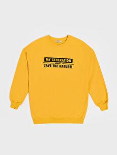 Baskılı Salaş Sweatshirt