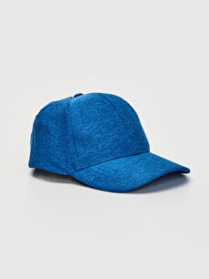 Blue Embroidery Detailed Boy Hat