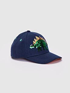 Erkek Çocuk Çift Yönlü Payetli Şapka