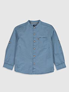 Erkek Çocuk Pamuklu Uzun Kollu Gömlek