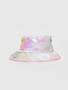 Kız Çocuk Pul Payetli Balıkçı Şapka
