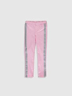Pembe Kız Çocuk Skinny Gabardin Pantolon