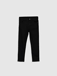Siyah Erkek Çocuk Super Slim Gabardin Pantolon