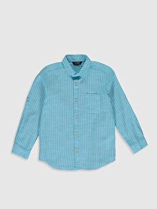 Erkek Çocuk Çizgili Poplin Gömlek