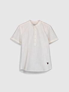 Beyaz Erkek Çocuk Poplin Gömlek