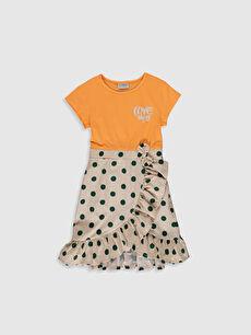 Kız Çocuk Puantiyeli Fırfırlı Elbise