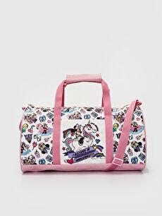 Kız Çocuk Minnie Mouse Baskılı Spor Çanta