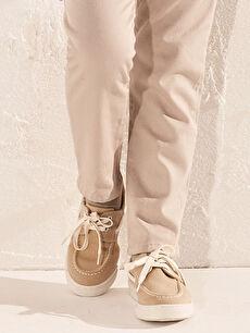 Erkek Çocuk 25-30 Numara Bağcıklı Bez Ayakkabı