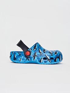 Mavi Erkek Çocuk Baskılı Terlik Sandalet