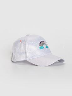 Kız Çocuk Nakış Detaylı Hologram Şapka