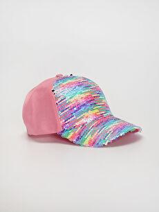 Kız Çocuk Pul Payetli Şapka