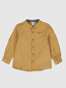 Sarı Erkek Bebek Hakim Yaka Gömlek